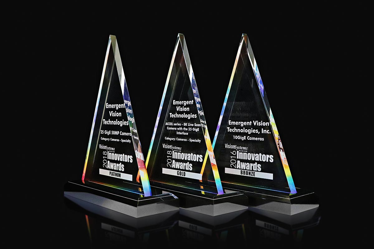 Figure 5: Emergent Vision Technologies has received three Innovators Awards from Vision Systems Design magazine.