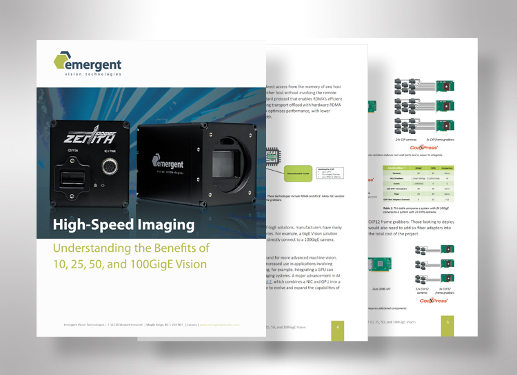 Understanding the Benefits of 10, 25, 50, and 100GigE Vision