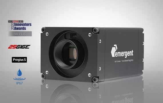 Figure 1: Several Emergent Vision Technologies camerars - including the award-winning HB-25000-SB, feature Sony's 4th Gen Pregius S sensors.